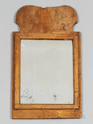 Early Gilded Pine Mirror