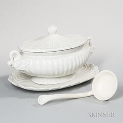 Ironstone Tureen, Undertray, and Ladle