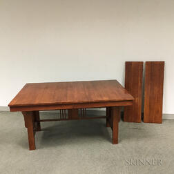 Mission-style Oak Dining Table