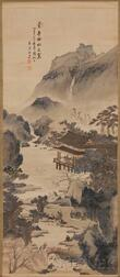 Hanging Scroll Depicting the Orchid Pavilion