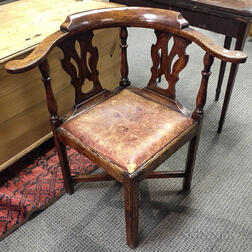 Queen Anne Carved Oak Roundabout Chair