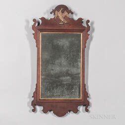 Scroll-frame Mirror with Eagle and Bird Heads
