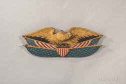 Carved, Painted and Gilded Eagle Plaque