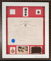 Brigadier General Constant Williams Medal Group with Theodore Roosevelt Signed Commission