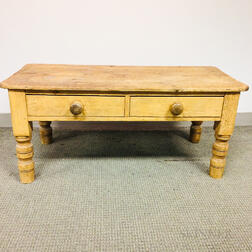 Continental Pine Two-drawer Low Table