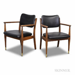 Pair of Liberty Manufacturing Co. Danish Modern-style Teak Armchairs