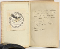 Lewis, Sinclair (1885-1951) Ann Vickers, Signed Presentation Copy.
