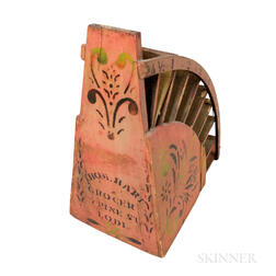 Painted and Stenciled Countertop Bag Rack