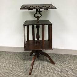 Marsh Stand Co. Oak Revolving Reading Stand