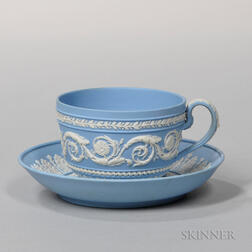 Wedgwood Solid Light Blue Jasper Cup and Saucer