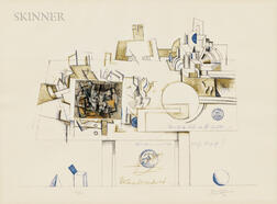 Saul Steinberg (American, 1914-1999)      Braque
