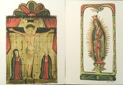 Louie H. Ewing (American, 1908-1983)  Lot of Two Serigraphs:  V-The Virgin of Guadalupe: A Santo