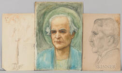 Thomas Matthews Rooke (British, 1842-1942)  Eleven Portrait Studies and Sketches for the Choir Mosaic of St. Paul's Within-th...
