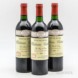 Chateau Certan de May 1986, 3 bottles