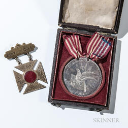 Department of the Gulf and Silver Surrender of Port Hudson Medals