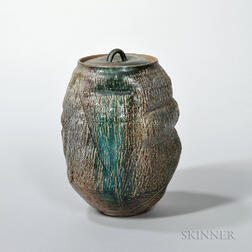 Makoto Yabe (1947-2005) Fresh Water Studio Pottery Vessel