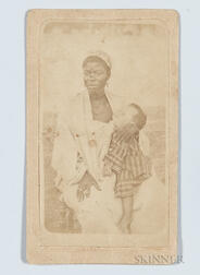 Carte-de-visite Depicting a Black Woman and Her Child