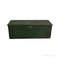 Green-painted Pine Sea Chest
