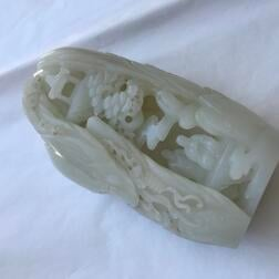 Carved Nephrite Jade Mountain