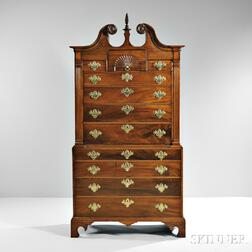 Carved Mahogany Chest-on-chest