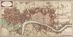 London. Wallis's Plan of the Cities of London and Westminster.