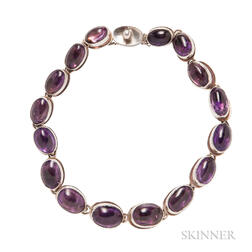 Sterling Silver and Amethyst Necklace, Antonio Pineda