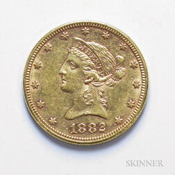 1882 $10 Liberty Head Gold Coin