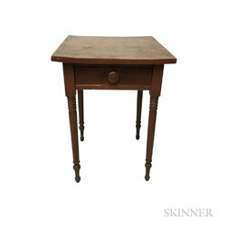 Federal Red-painted Pine One-drawer Stand