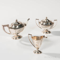 Three-piece Sterling Silver Tea Set