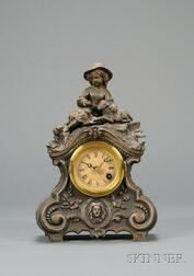 Patinated Metal Statuary Clock by Terry Clock Company