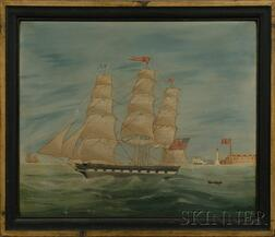 Anglo-American School, 19th Century      Portrait of the Ship RAPAHANNOCK.