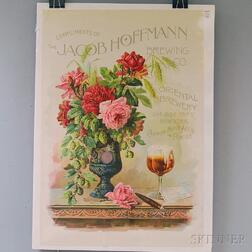 Jacob Hoffman Brewing Co. Advertising Poster