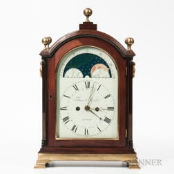 London Quarter-striking Mahogany Bracket Clock