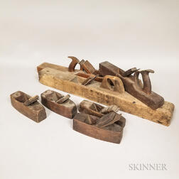 Thirteen 19th Century Wooden Woodworking Planes