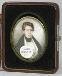 Anglo/American School, 19th Century  Miniature Portrait of a Young Gentleman