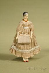 Early Wood Lady Doll