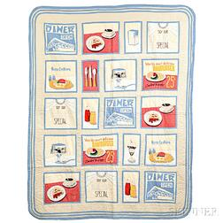 Pieced and Appliqued Diner Quilt