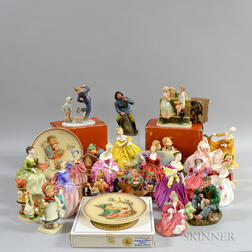 Approximately Twenty-five Royal Doulton and Hummel Figurines