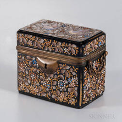 Bohemian Enameled Glass Box