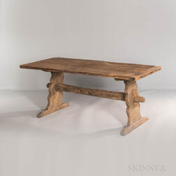 Poplar and Maple Trestle Table