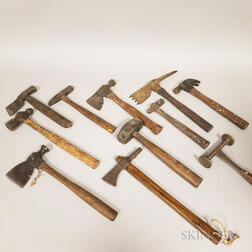 Collection of Wooden Handles Hammers