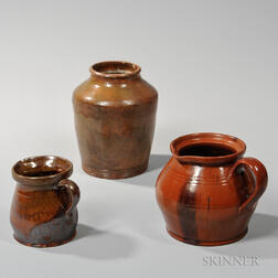 Three Pieces of New England Redware