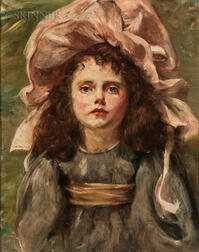 Anglo/American School, 19th/20th Century      Girl in a Pink Bonnet