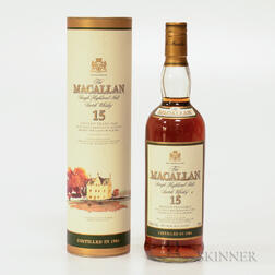 Macallan 15 Years Old 1984, 1 750ml bottle (ot)