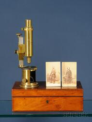 Compound Microscope with Civil War Photograph