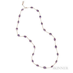 Gold and Amethyst Chain