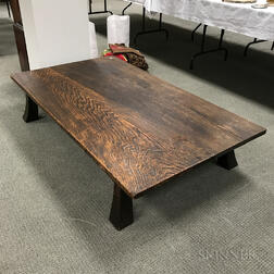 Modern Japanese Softwood Low Coffee Table