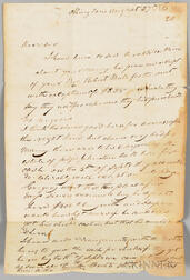 Letter from Joseph Meek of Nashville to a C. Hayes