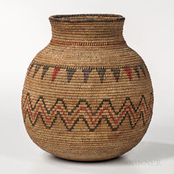 Apache Polychrome Coiled Jar
