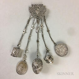 Continental Silver Chatelaine
